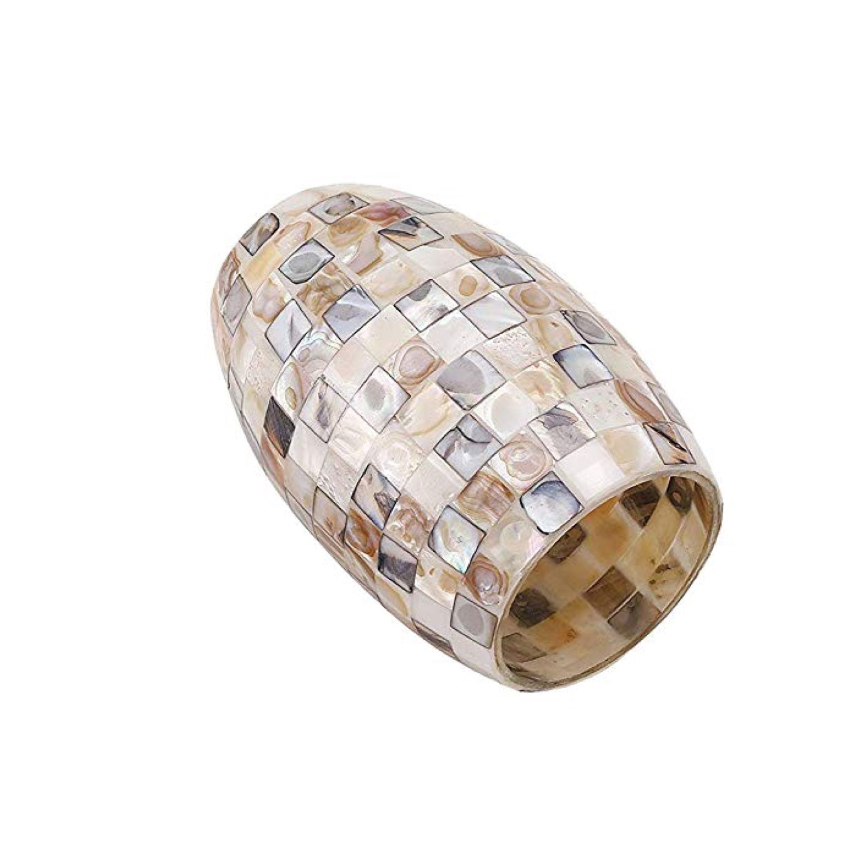 Ceiling Hanging Mini Pendant Light, 8W-A19 LED, Mosaic Glass, 2700K - 3 Pack