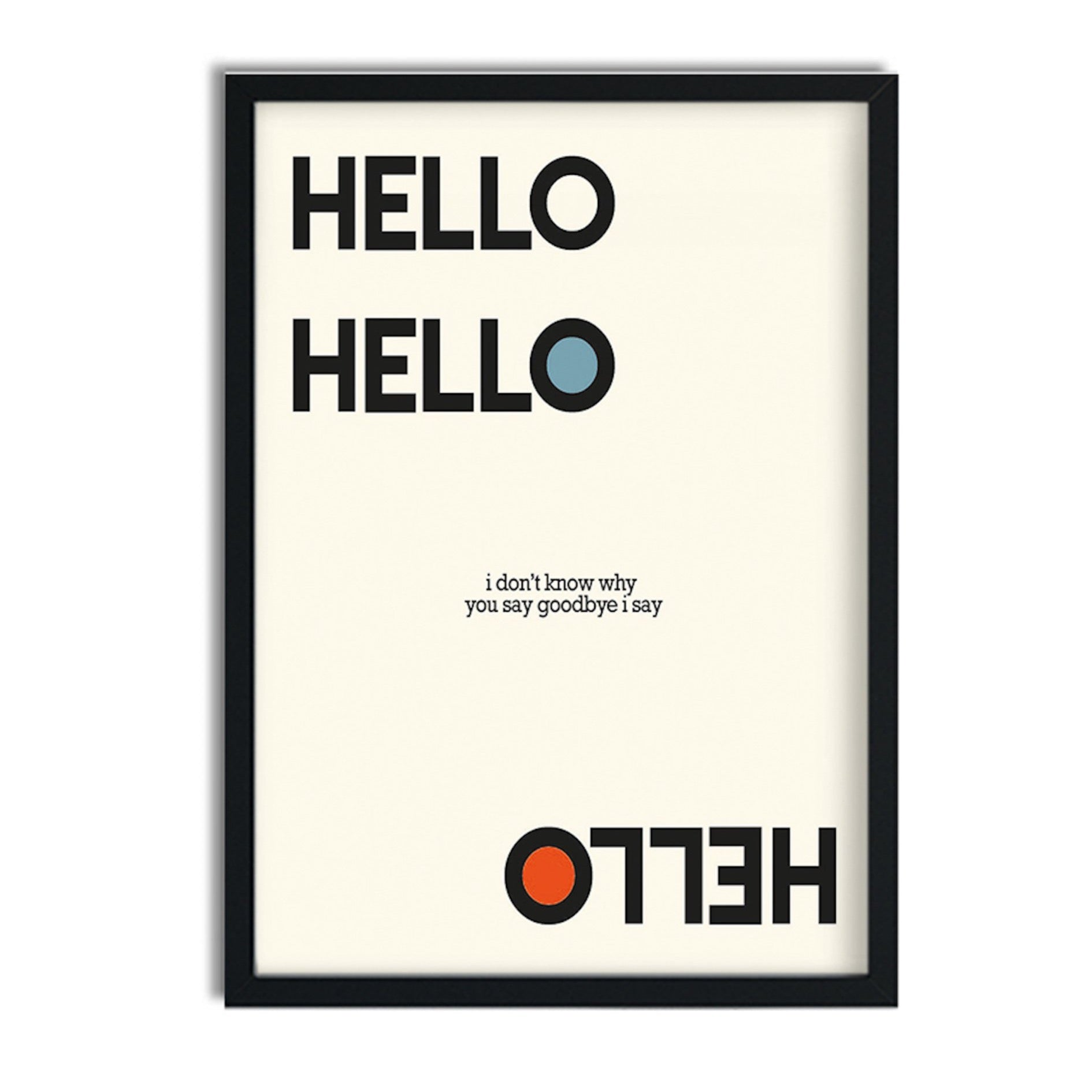 Hello Goodbye Beatles retro art print