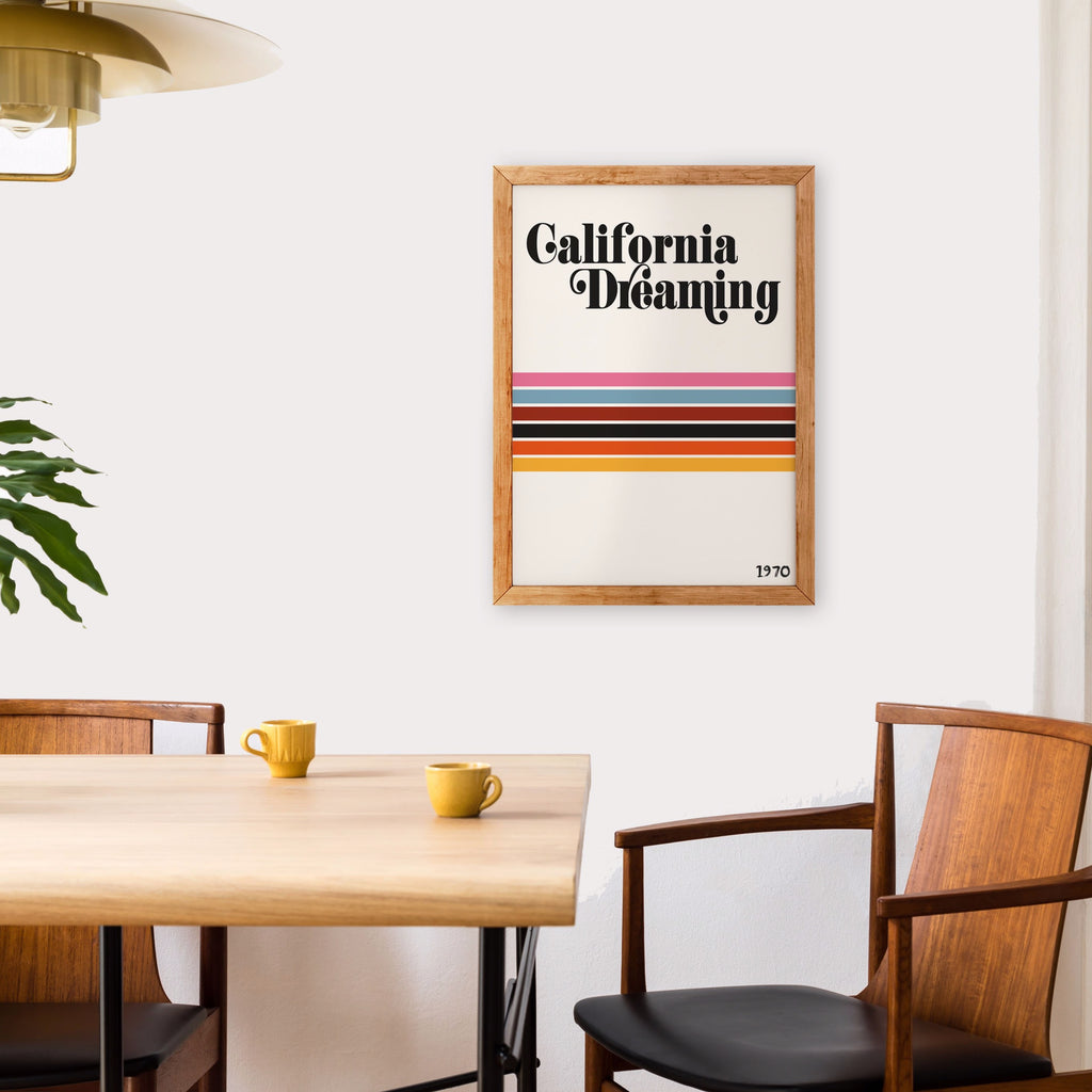 California Dreaming Inspired retro Art Print