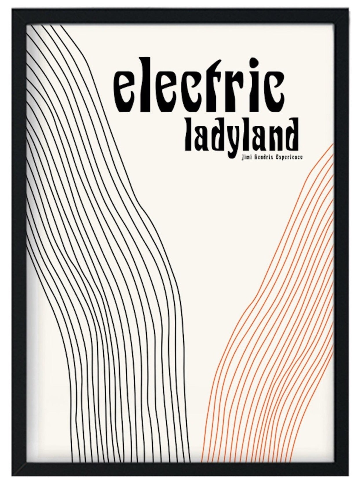Electric ladyland  retro A3 Art Print