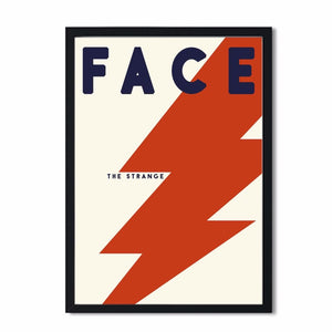 Face the strange Bowie inspired Retro Art print