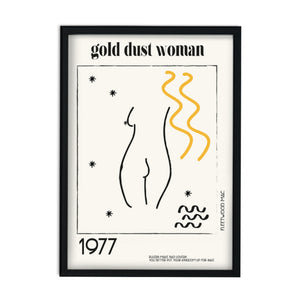 Gold dust woman retro A3 Art Print