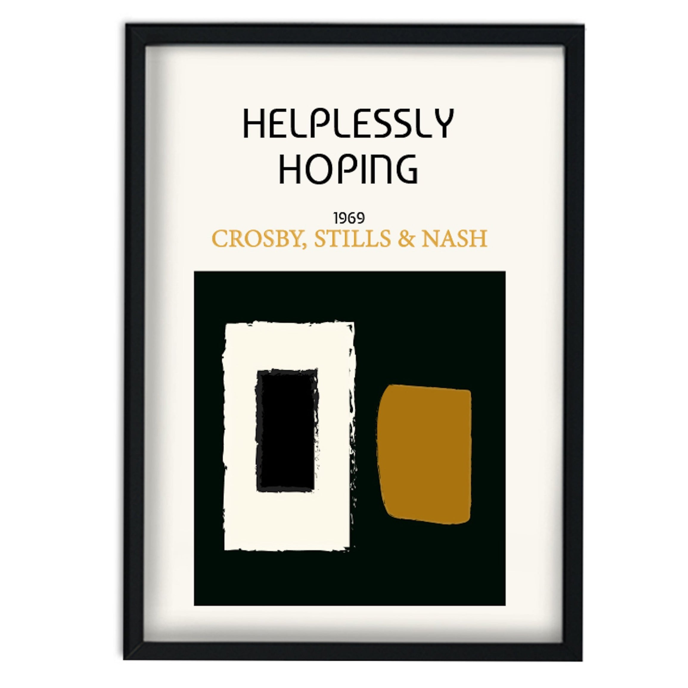 Helplessly Hoping Crosby, Stills & Nash Inspired A3 Retro Art Print
