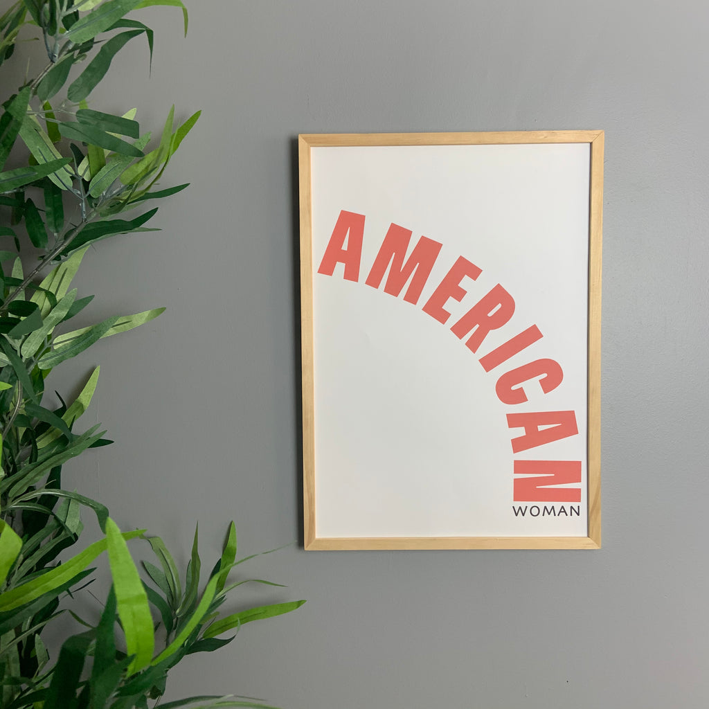 American woman retro art print