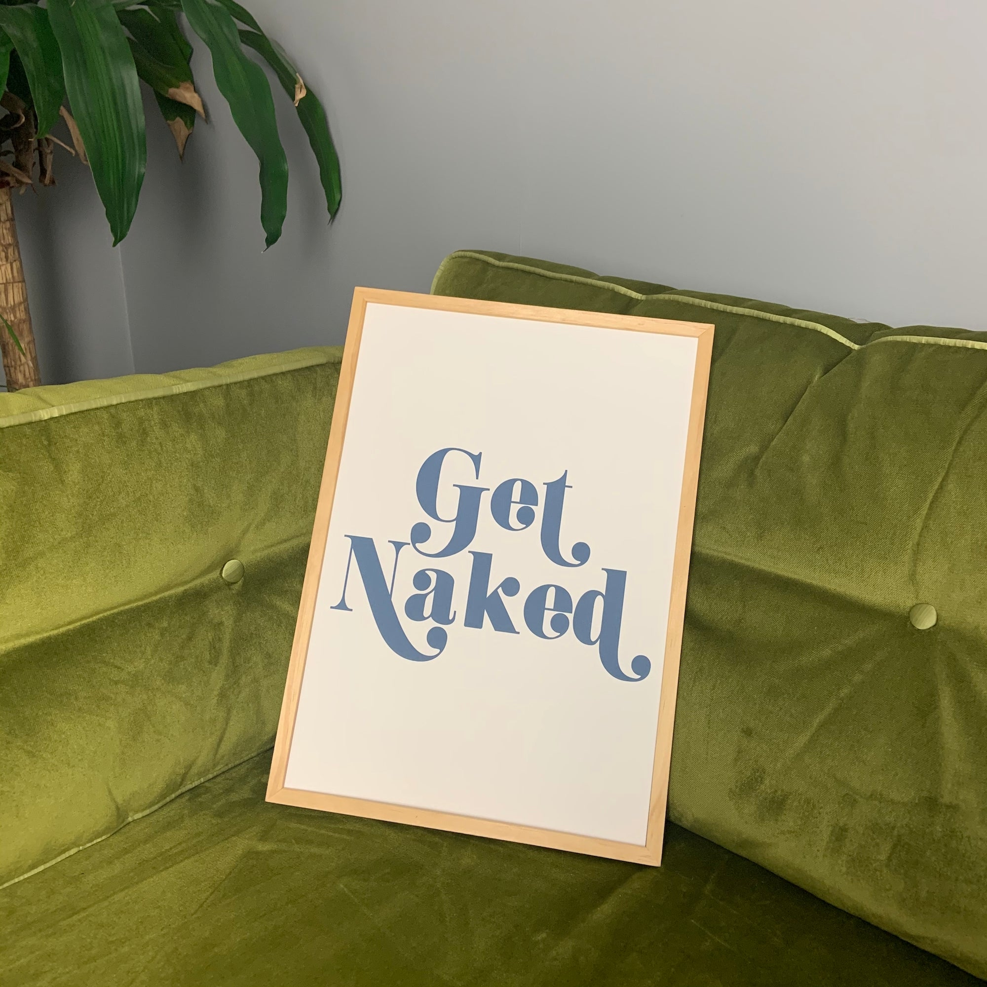 Retro blue typography on the perfect off white background this A3 art print will be the perfect stand out yet simplistic piece in any home.   We here at Fanclub think this is the perfect print to add some quirk to your bathroom!