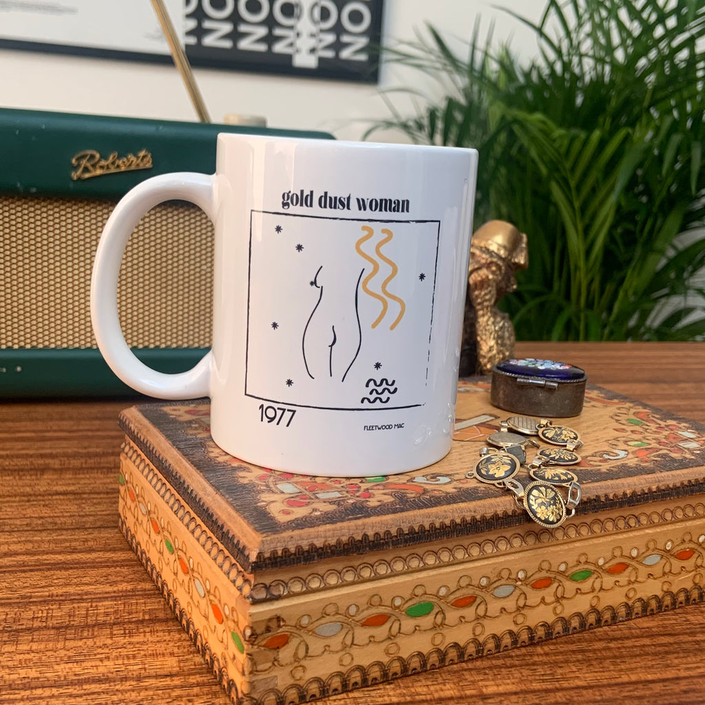 Gold Dust Woman Fleetwood Mac Music Inspired Retro Ceramic Mug
