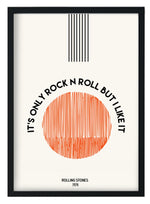 It's Only Rock N Roll But I Like It Rolling Stones  inspired retro A3 Art Print