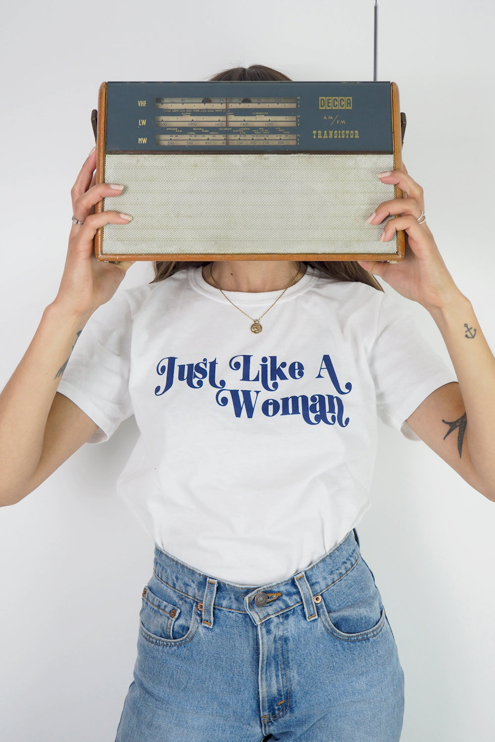 Just Like a woman retro slogan t-shirt
