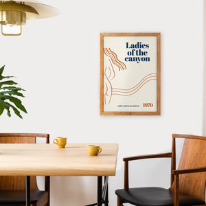 Ladies of the canyon Californian retro giclée art print