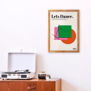 Lets Dance David Bowie Inspired retro Giclée  Art Print