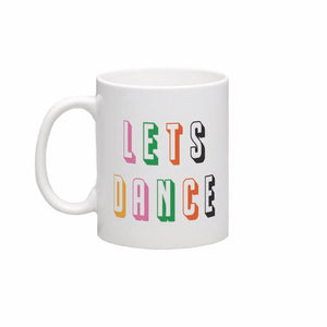 Lets Dance David Bowie Inspired Retro Ceramic Mug