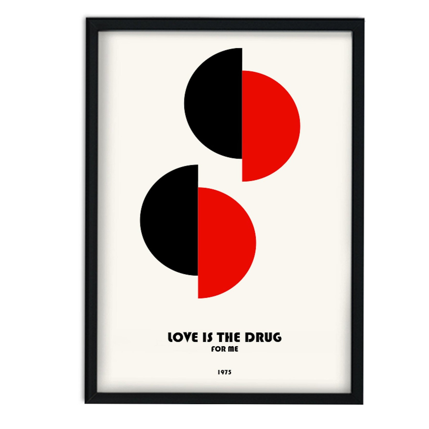 Love Is The Drug For Me Roxie Music Inspired Retro A3 Art Print