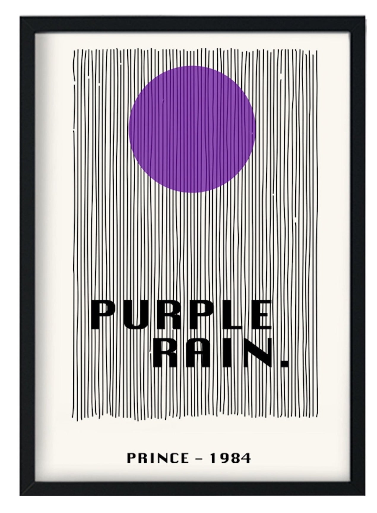 Purple Rain retro A3 Art Print