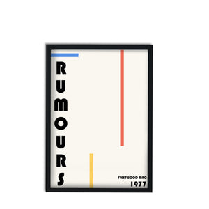 Rumours Fleetwood Mac Inspired retro giclée art print