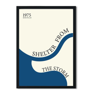 Shelter from the storm Bob Dylan inspired retro A3 Art Print