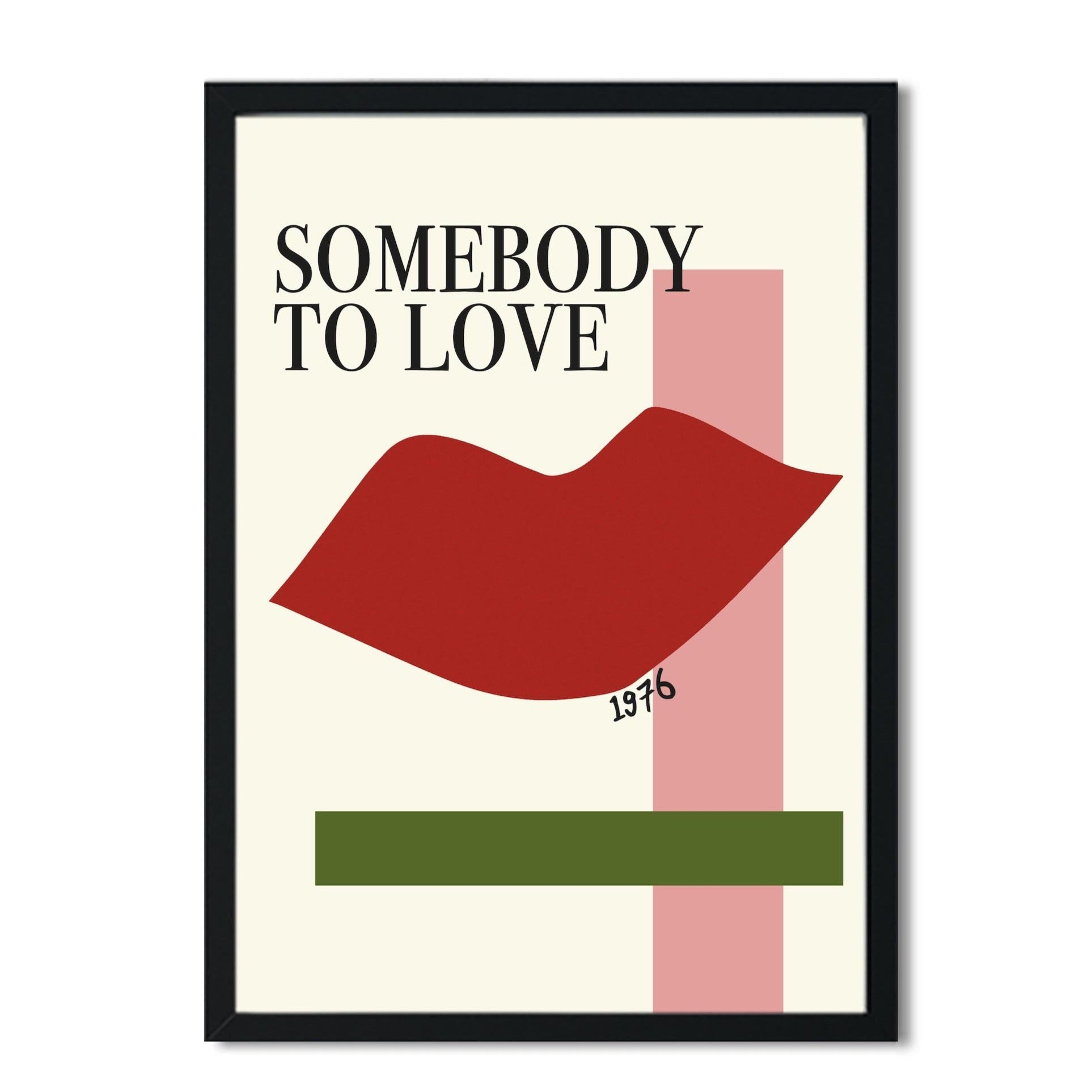 Somebody to love queen inspired retro A3 Art Print