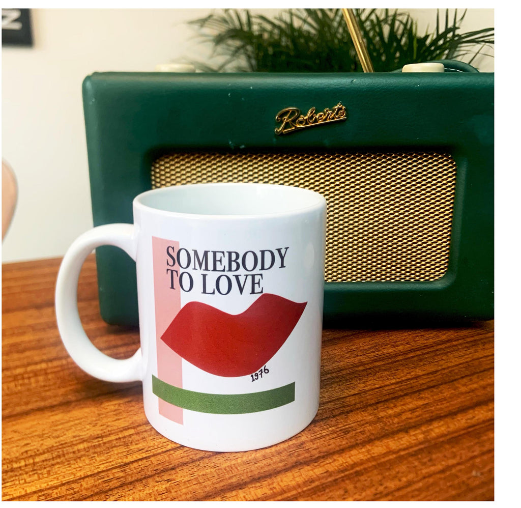 Somebody to love Queen Inspired Retro Ceramic Mug