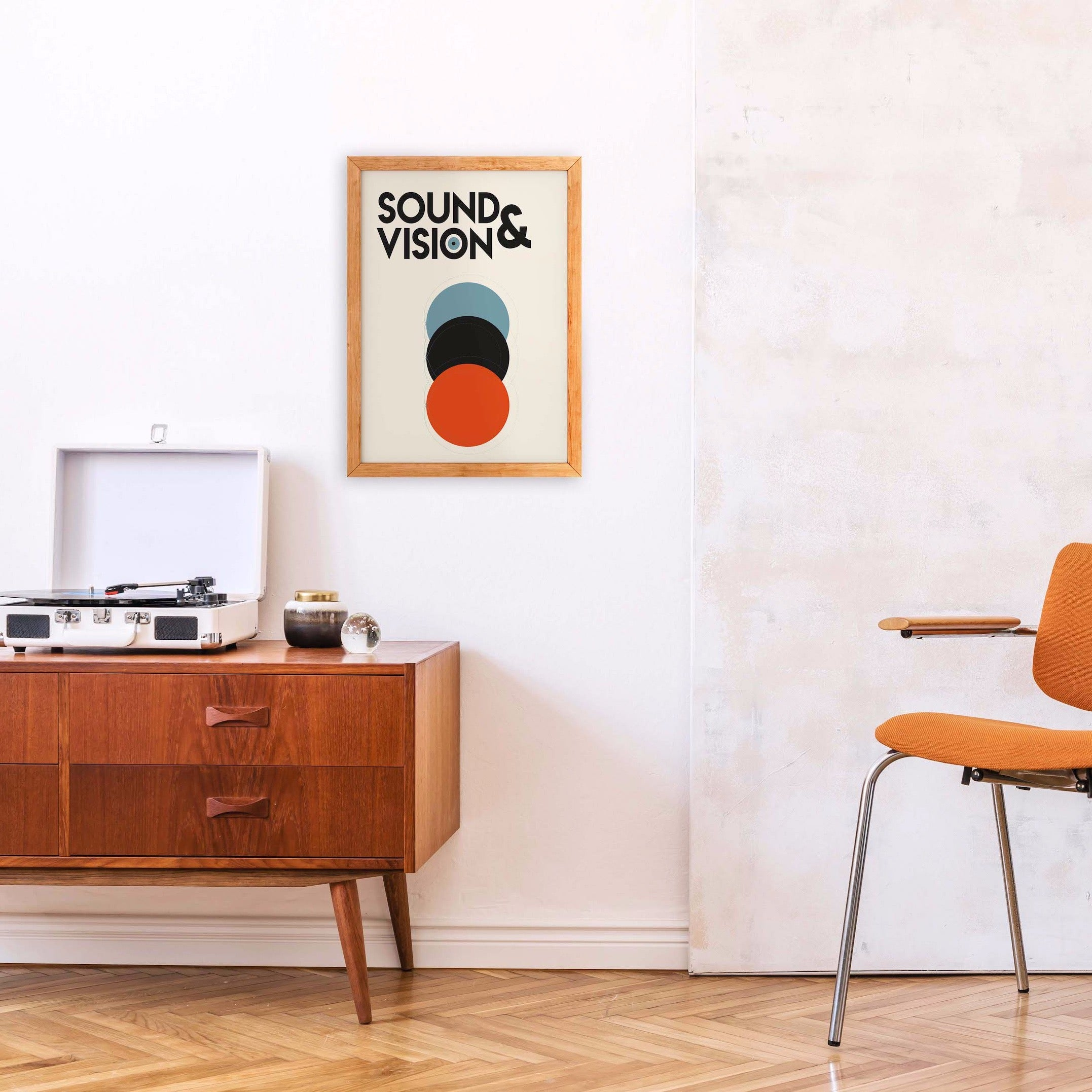 Sound and Vision David Bowie retro art print