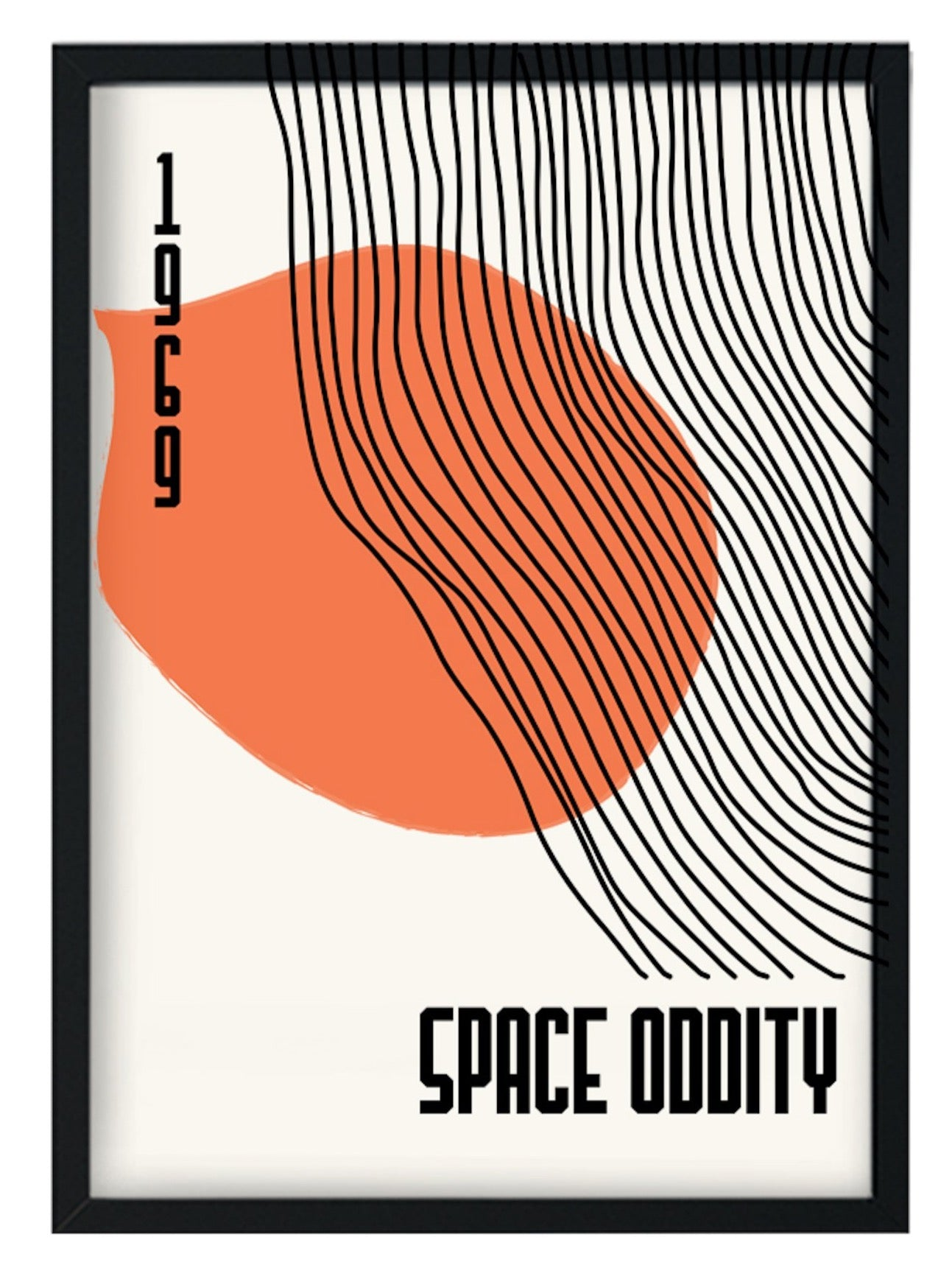 Space oddity David Bowie inspired  retro A3 Art Print