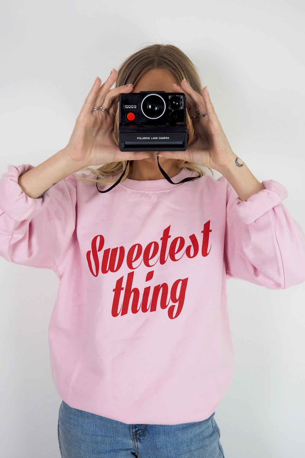 Sweetest thing retro slogan sweatshirt