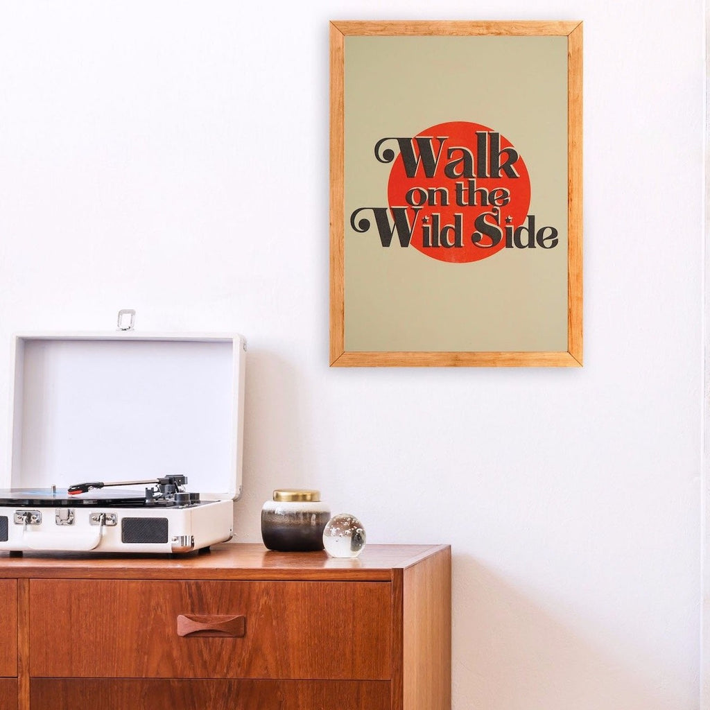 Walk on the wild side retro art print