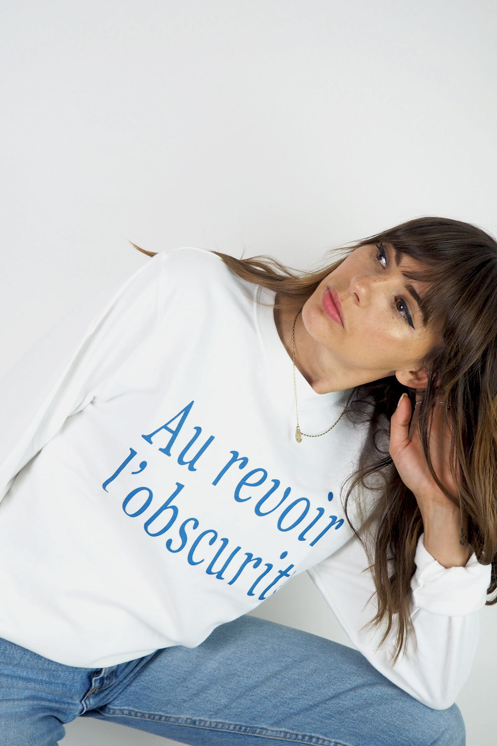 Au revoir l'obscurite French retro slogan sweatshirt