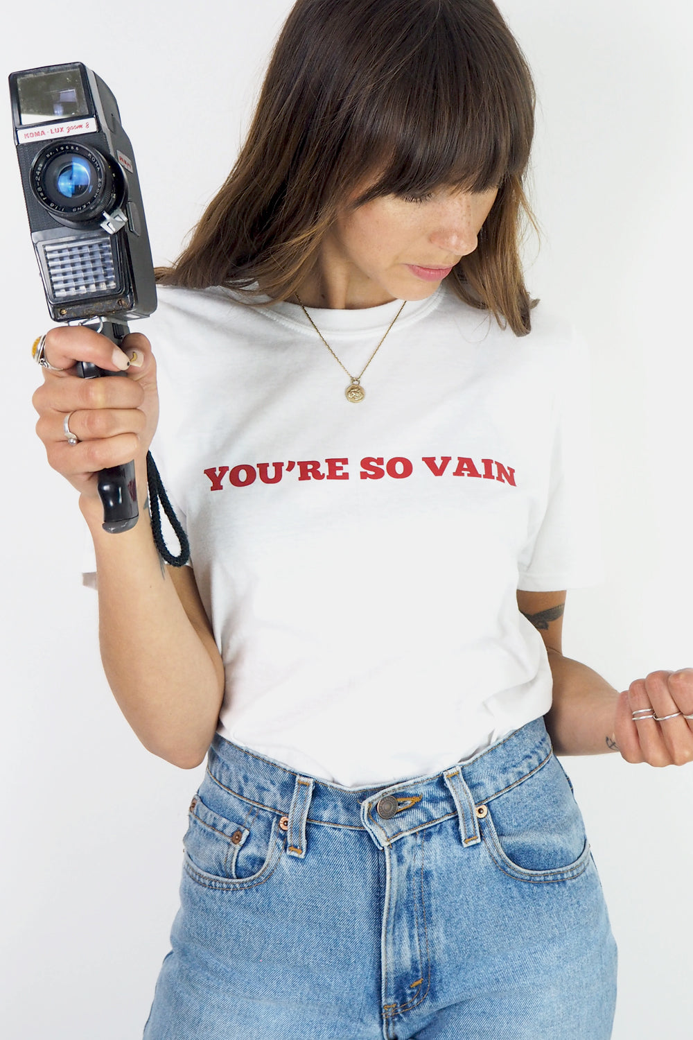 You're so Vain retro slogan t-shirt