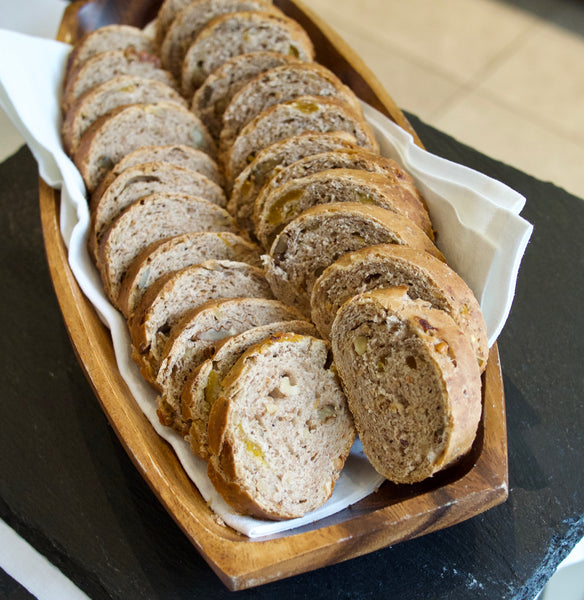 Walnuts and apricots bread