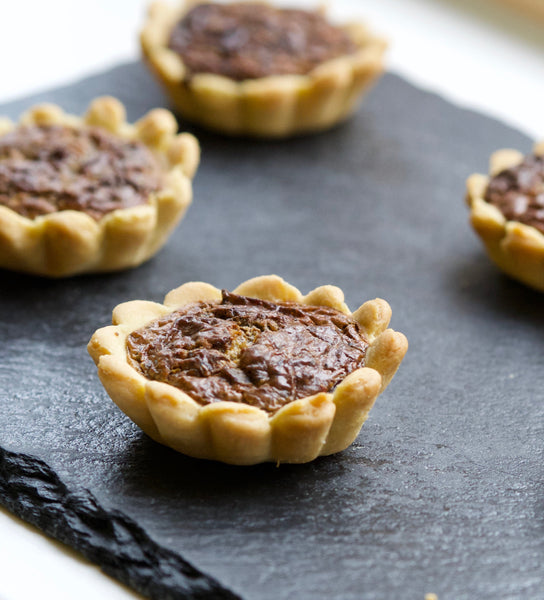 Mini quiches with mushrooms and truffles