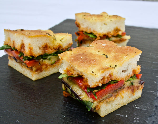 Focaccia with mixed fillings