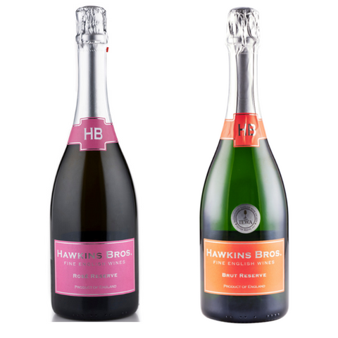 Hawkins Bros English sparkling wine rose and classic cuvee