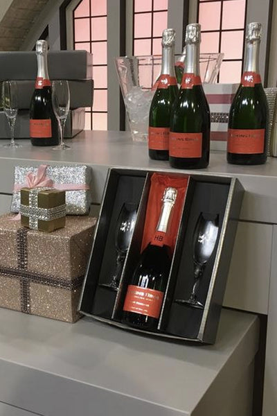 Hawkins Bros Brut Reserve English sparkling wine gift set