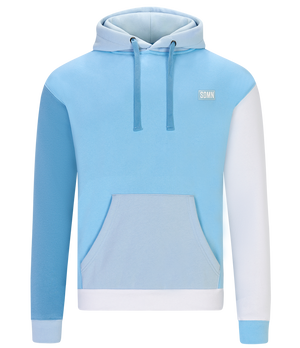 SDMN Blue Colour Block Hoodie