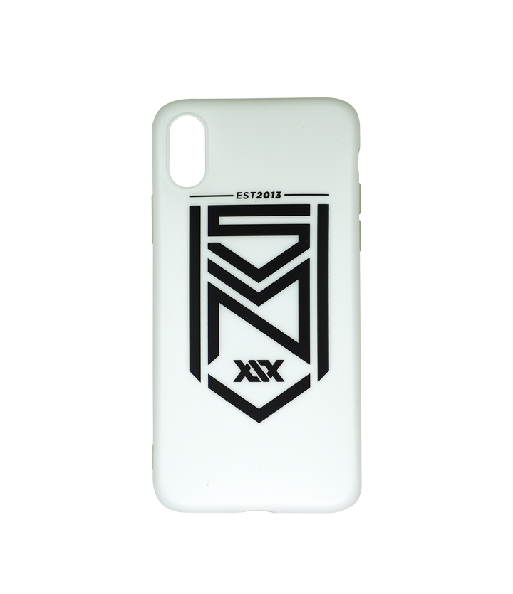 Crest Matte White iPhone Case