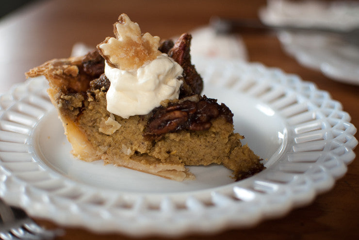Kicking off Recipe Posts! Squash Pie with Maple Pecan Streusel