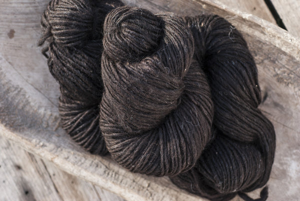 100% Natural Wool Black Lopi Yarn