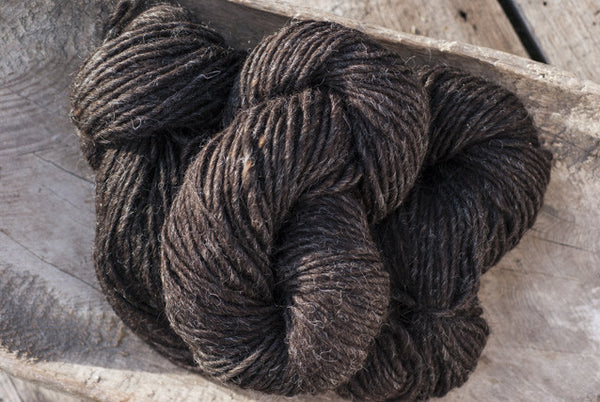 100% Natural Wool Black With Grey Hues Lopi Yarn