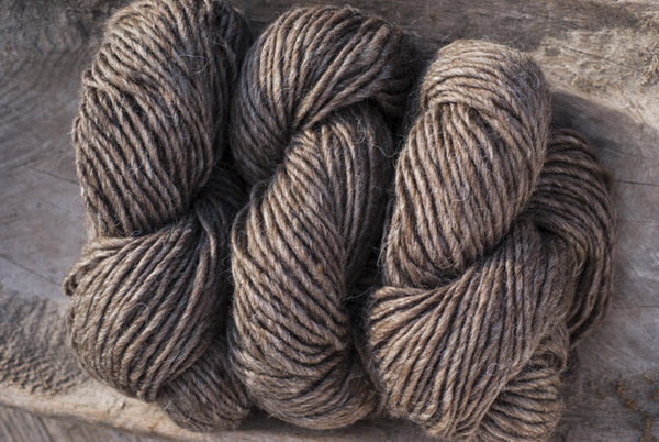 100% Natural Wool Brown Lopi Yarn
