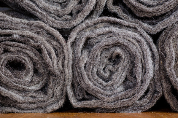 "100% Natural Wool Felt 36"" x 48"" Warm Grey"