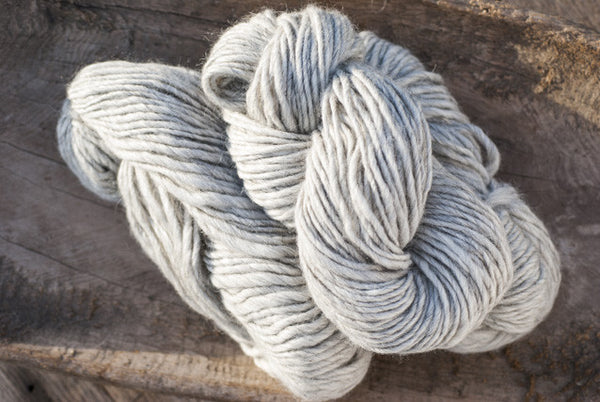 100% Natural Wool Light Grey Lopi Yarn
