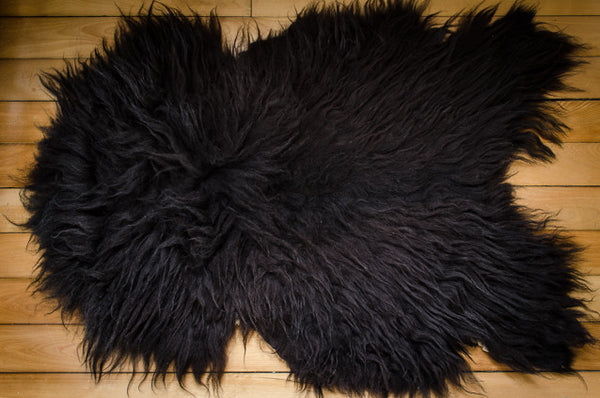 Large Black, Medium Coat Icelandic Pelt (642-2)