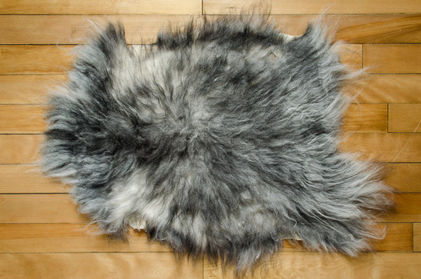 Small White/Grey/Black, Medium Coat Icelandic Pelt (451-10)