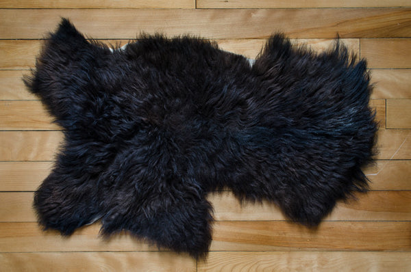 Small Dark Brown, Medium Coat Icelandic Pelt  (451-6)