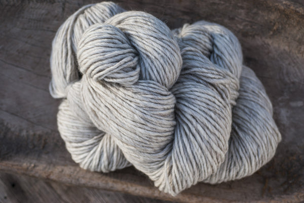 100% Natural Wool White & Cool Brown Lopi Yarn