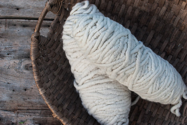 100% Natural Wool White Rugyarn