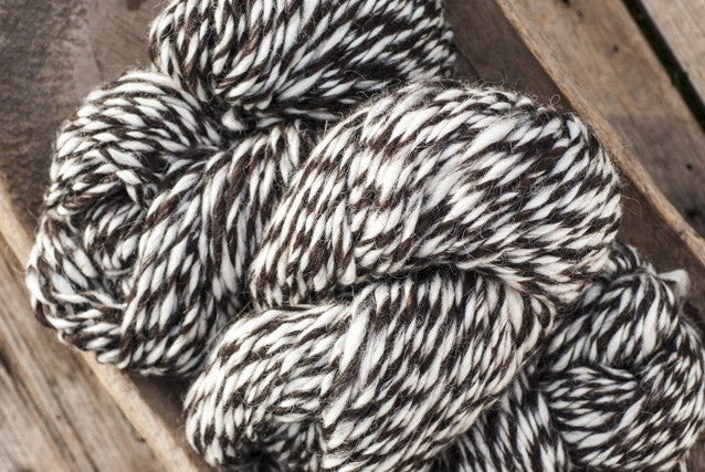 100% Natural Wool Black & White Tweed Lopi Yarn