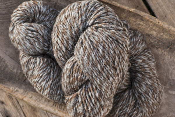 100% Natural Wool Brown & Grey Tweed Lopi Yarn
