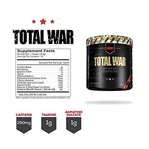Redcon1 Total War Fully Dosed Pre Workout Complex