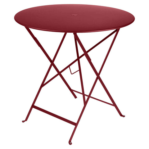 Bistro Round Table in Chili Red