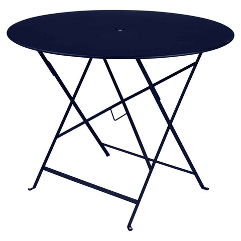 Bistro Round Table in Deep Blue
